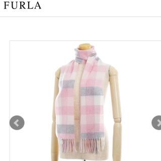 フルラ(Furla)のカシミヤ 100% FURLA  フルラ  チェック ペールピンク♡(マフラー/ショール)