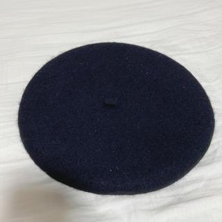アースミュージックアンドエコロジー(earth music & ecology)の黒 ベレー帽(ハンチング/ベレー帽)