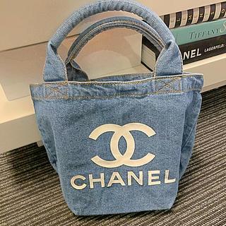 CHANEL - CHANEL ノベルティーデニムバングル持ち手トートバッグ