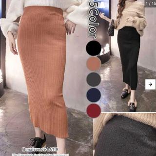 GRL - リブニットタイトスカート