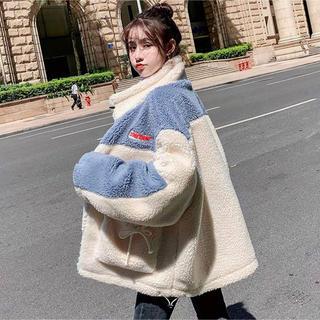 レディース ボアブルゾン 韓国系 原宿系 ストリート系 ファッション
