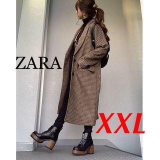 ザラ(ZARA)の新品 ZARA XXL チェック柄 オーバーサイズ コート(ロングコート)