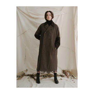 ビームス(BEAMS)のsawa takai♡Over DB Coat in Brown Combo(ロングコート)