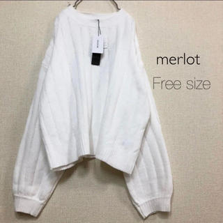 merlot - merlot⭐️新品⭐️ハイゲージリブニット ホワイト