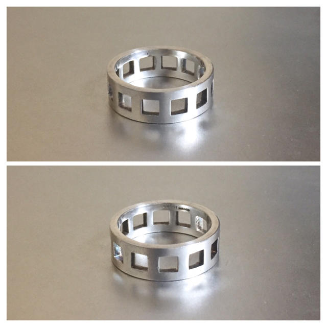 Gucci(グッチ)のGUCCIグッチ925silverスクエアリング メンズのアクセサリー(リング(指輪))の商品写真