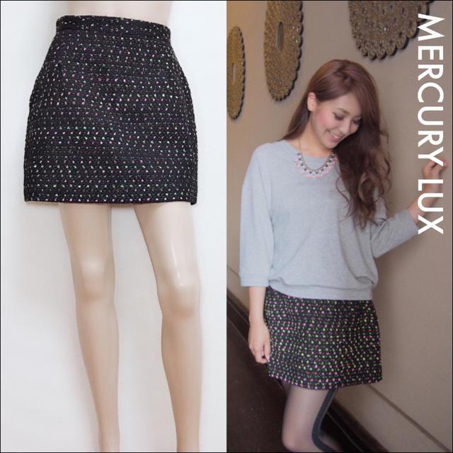 MERCURYDUO(マーキュリーデュオ)のMERCURY DUO ツイード スカート♡ムルーア ザラ スナイデル ダズリン レディースのスカート(ミニスカート)の商品写真