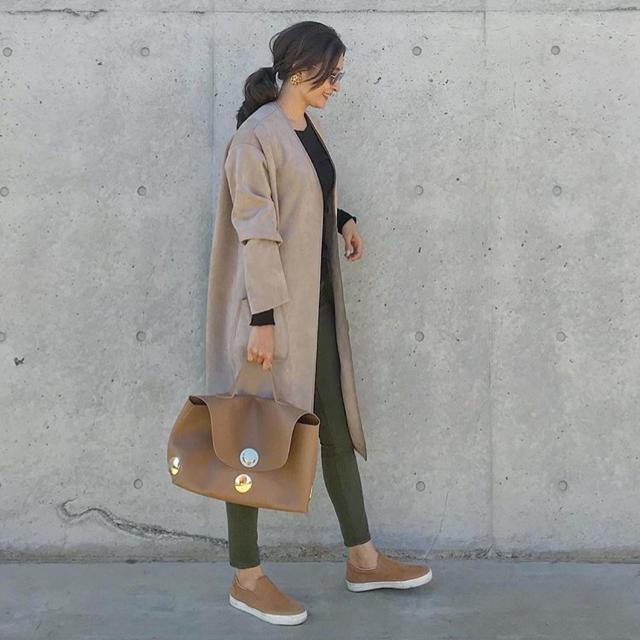 MUJI (無印良品)(ムジルシリョウヒン)の無印良品 スリッポン 中古品 グレー レディースの靴/シューズ(スリッポン/モカシン)の商品写真
