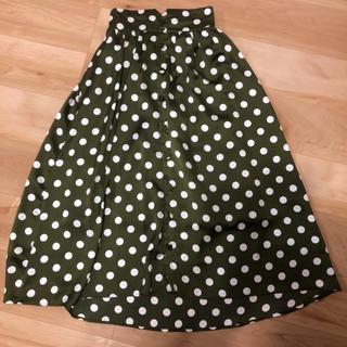 merlot - merlotドットロングスカート