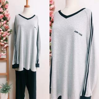 FE239*5L ② 大きいサイズ 綿100% Tシャツタイプ シンプルパジャマ(パジャマ)