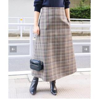 IENA - IENA wool トラペーズスカート