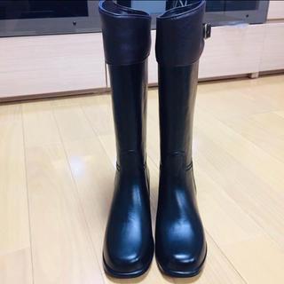 新品 未使用 美品 レインブーツ 【 長靴 ブラック ブラウン ブーツ M  】(レインブーツ/長靴)