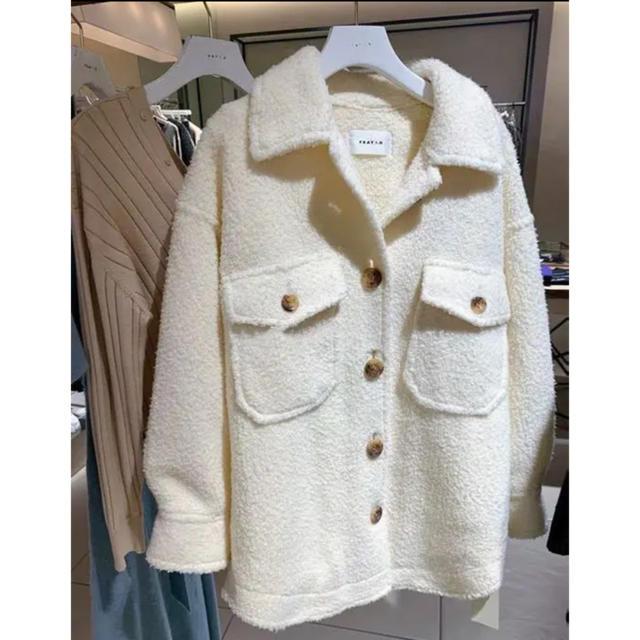 FRAY I.D(フレイアイディー)のフレイアイディー ウールシャツジャケット レディースのジャケット/アウター(テーラードジャケット)の商品写真