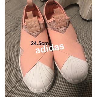 adidas - adidas アディダス レディース スニーカー ピンク スリッポン