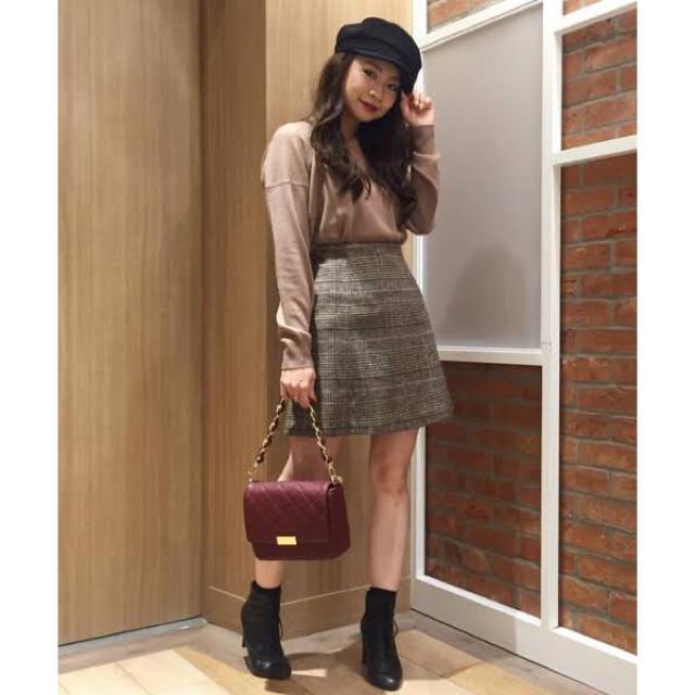MERCURYDUO(マーキュリーデュオ)の【MERCURY DUO】グレンチェック台形ミニスカート レディースのスカート(ミニスカート)の商品写真