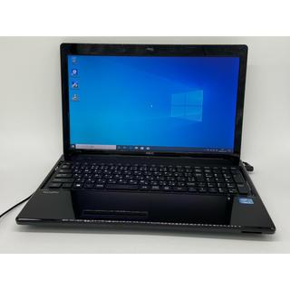 エヌイーシー(NEC)の第三世代 Core i3 Windows10 NEC ブラック ノートパソコン(ノートPC)