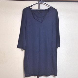 ニジュウサンク(23区)の23区 濃紺7分袖ワンピース(ミニワンピース)