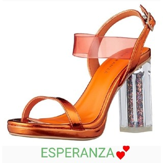 エスペランサ(ESPERANZA)の☆新品 ✿エスペランサ✿ 今季新作♪ラメ入りクリアヒールサンダル☆ ミュール☆(サンダル)