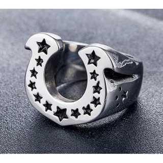 メンズ 馬の蹄 シルバー デザインリング 指輪 リング 20号23号 スター