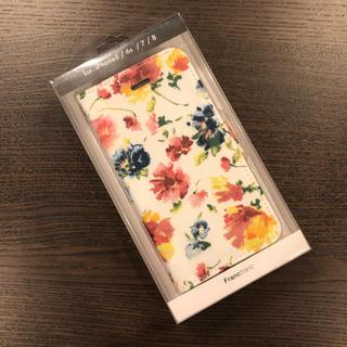 Francfranc - 手帳タイプ【新品・未使用】フランフラン iPhoneケース 花 フラワーa