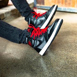 """NIKE - ◆ Nike Air Jordan 1 赤黒 """"Black Satin""""◆"""