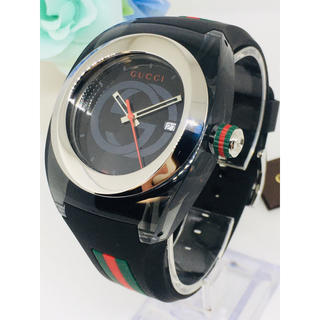 Gucci - GUCCI グッチ 高級 腕時計 ブラック メンズ 男性 激レア 海外人気 新品