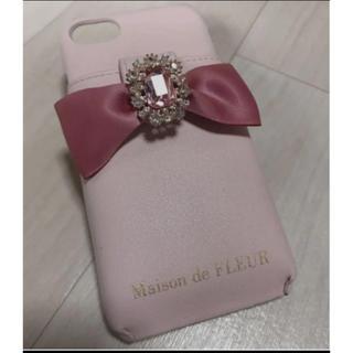 Maison de FLEUR - メゾンドフルール iPhone7.8ケース ビジュー♡