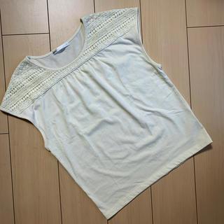 イッカ(ikka)のikka  肩レースフレンチスリーブカットソー(カットソー(半袖/袖なし))