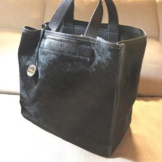 Furla - FURLAフルラ 黒レザー×ハラコ ハンドバッグ