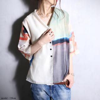 antiqua - ☆★☆ 完売品 アート柄 羽織り カーディガン