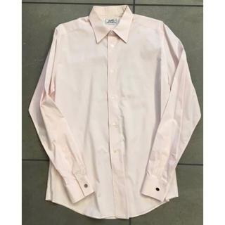 エルメス(Hermes)の国内正規品★HERMES エルメス H織柄ピンクシャツ★40(シャツ)