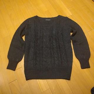 アクリルニットセーター