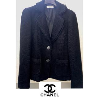 CHANEL - シャネル♡黒のシンプルなジャケット 美品