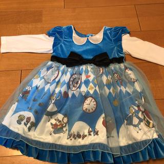Disney - 不思議の国のアリスドレス ワンピース 90