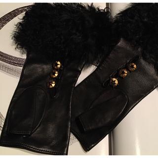 CHANEL - シャネル❤ファーグローブ 手袋 黒 新品