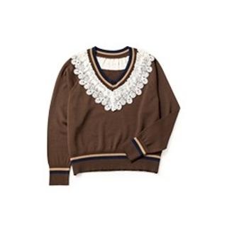 JaneMarple - ジェーンマープル lace trimming cricket sweater