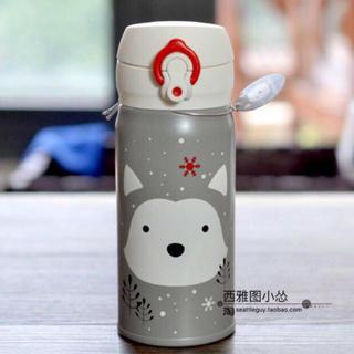 スターバックスコーヒー(Starbucks Coffee)のサーモス 台湾スターバックス 中国 ハスキー ステンレスボトル 犬 クリスマス(キャラクターグッズ)
