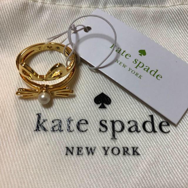 kate spade new york(ケイトスペードニューヨーク)のケイトスペード 猫ひげ 指輪 ゴールド レディースのアクセサリー(リング(指輪))の商品写真