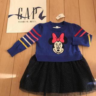 babyGAP - 新品★ 90cm gap ワンピース ミニー ニット チュール