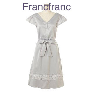 Francfranc - Francfrancサテンレースワンピース 新品❣️