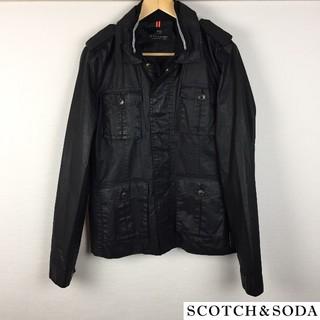 スコッチアンドソーダ(SCOTCH & SODA)の美品 スコッチ&ソーダ ジャケット ブラック サイズS(ナイロンジャケット)