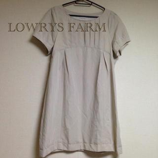 LOWRYS FARM - LOWRYS FARMタックデザインワンピース❃︎