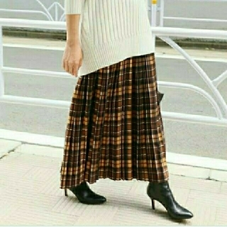 IENA - 大人気♡イエナ♡チェックプリーツスカート 38
