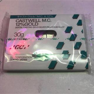 GC キャストウェル歯科鋳造用金銀パラジュウム合金 金パラ金12% 30gx1枚