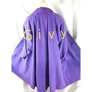 ★421★Givy(ギビー)★紫キレイ(^O^)/毛使用ロングコート★L★(ロングコート)