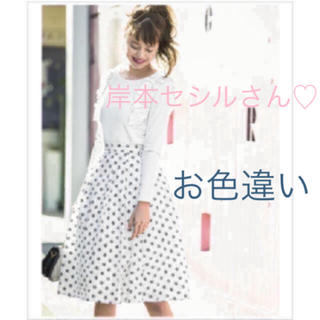 tocco - トッコ♡ 大人な甘さを醸すレース貼りヒロインドットスカート