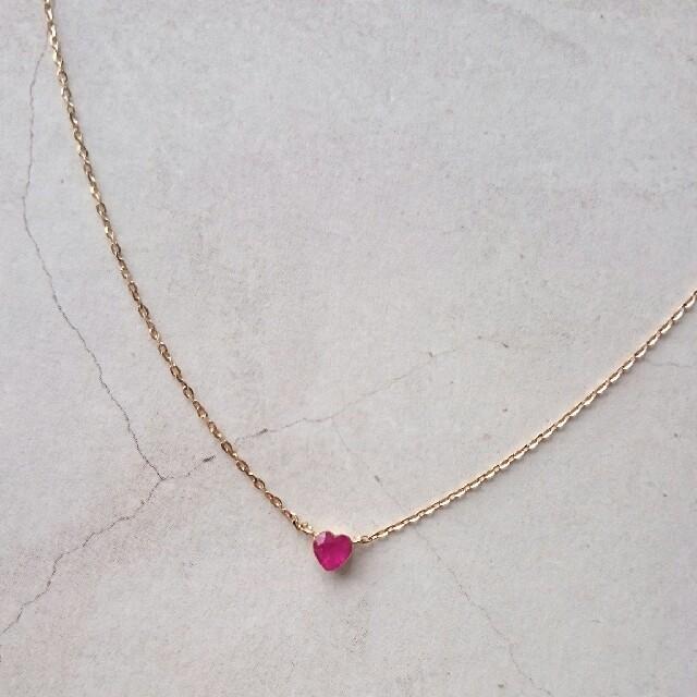 agete(アガット)のagete K18ネックレス ルビー レディースのアクセサリー(ネックレス)の商品写真