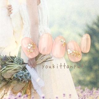 ボタニカルティアラ*ネイルチップ 付け爪 つけ爪 結婚式 ブライダル ウェディン(ネイルチップ)