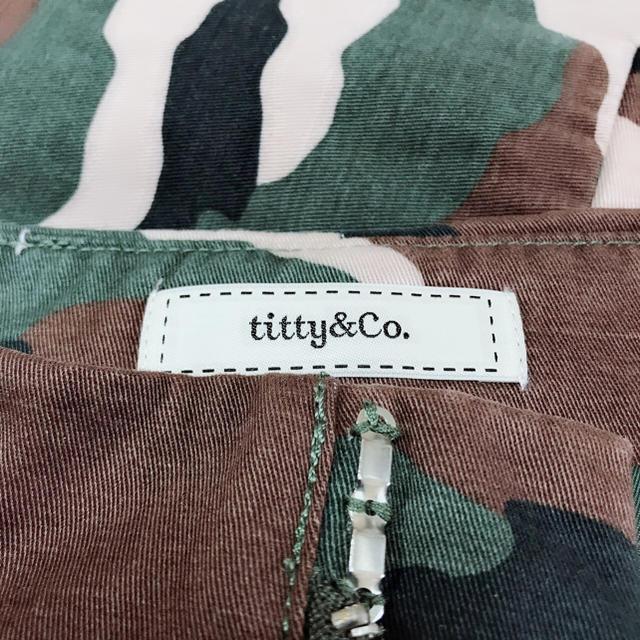 titty&co(ティティアンドコー)のtitty&co カモフラ柄 スカート♡ティティベイト セシルマクビー レディースのスカート(ミニスカート)の商品写真
