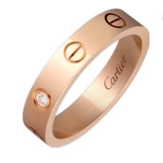 カルティエ(Cartier)の定価約25万 カルティエ ラブリング 一粒ダイヤ 6号(リング(指輪))