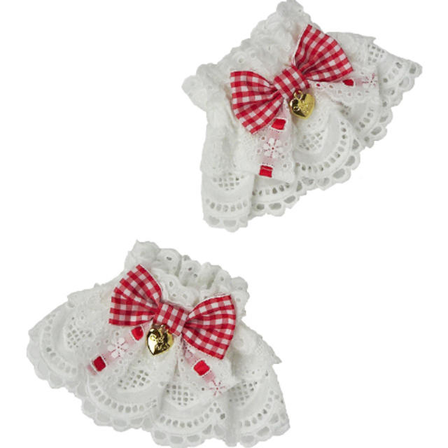 Angelic Pretty(アンジェリックプリティー)のHeart Cafeお袖とめ(赤) レディースのアクセサリー(その他)の商品写真